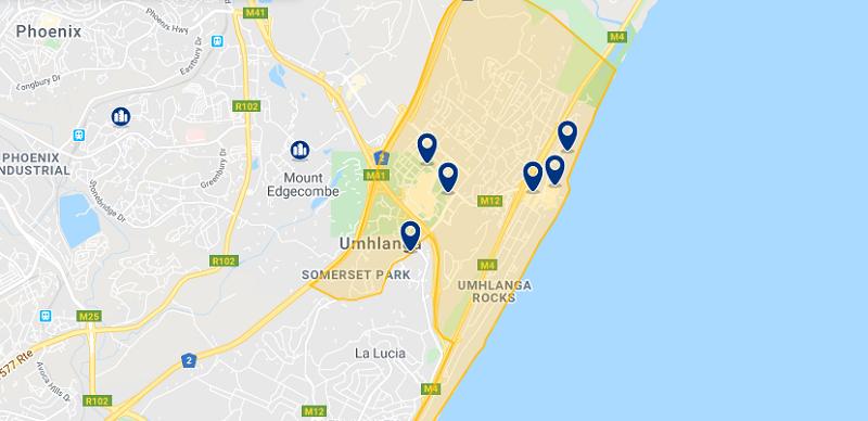 Melhor região para ficar em Durban: Umhlanga