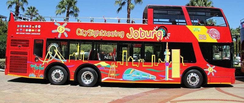 Ingresso para o ônibus turístico em Joanesburgo