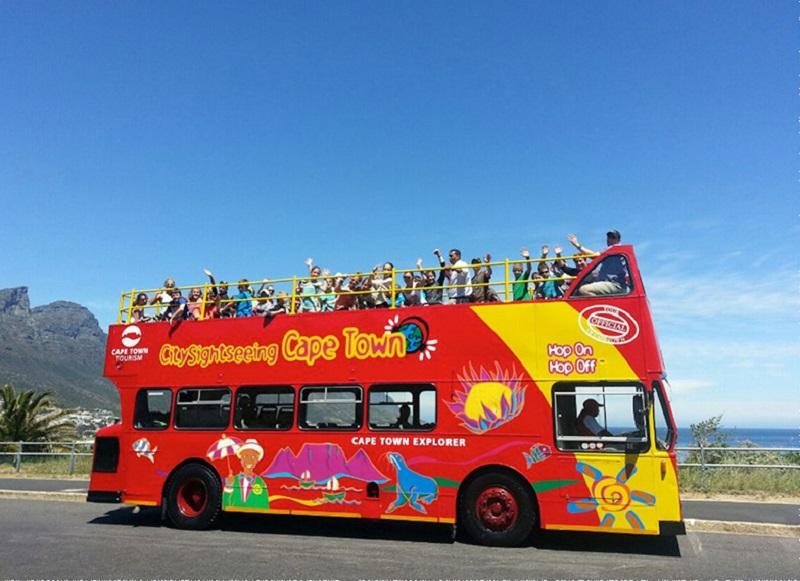 Ônibus turístico Sightseeing na Cidade do Cabo