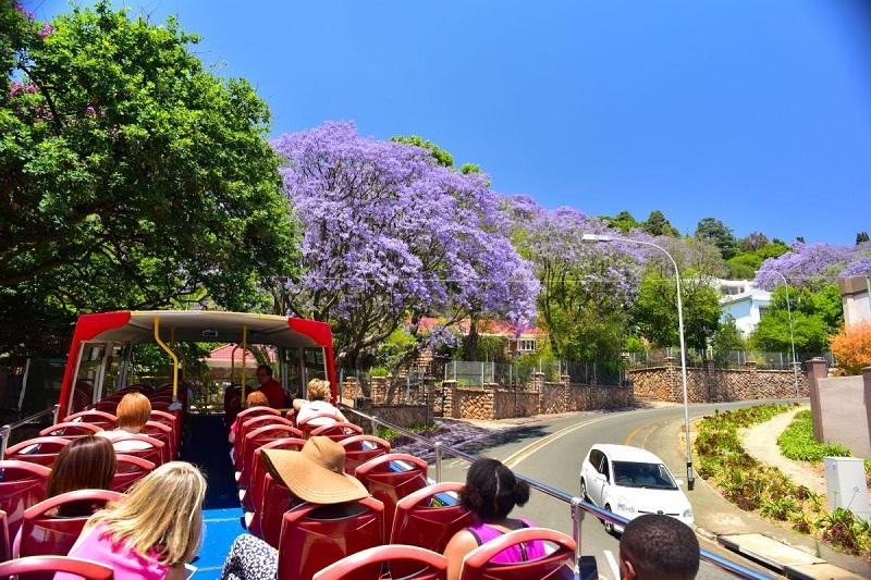 Andar de ônibus turístico em Joanesburgo