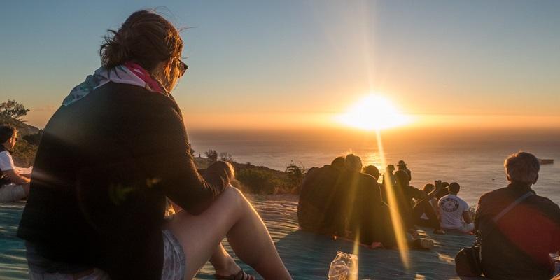 Pôr do sol em Signal Hill na Cidade do Cabo