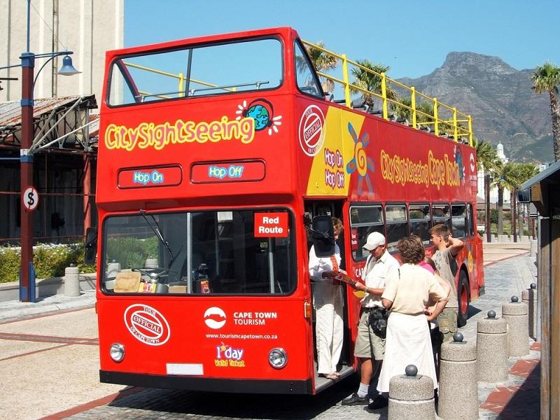 Ingresso para o ônibus turístico na Cidade do Cabo