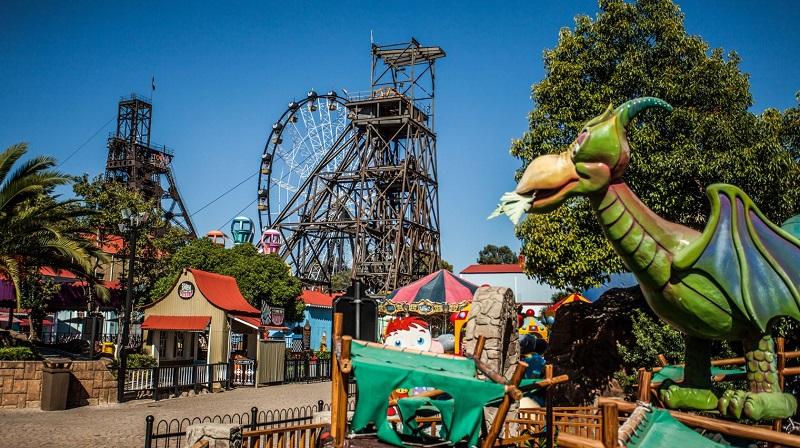 Ir ao Gold Reef City com crianças em Joanesburgo