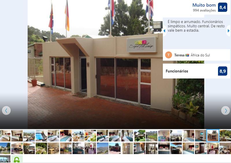 Fachada do Signal Hill Lodge na Cidade do Cabo