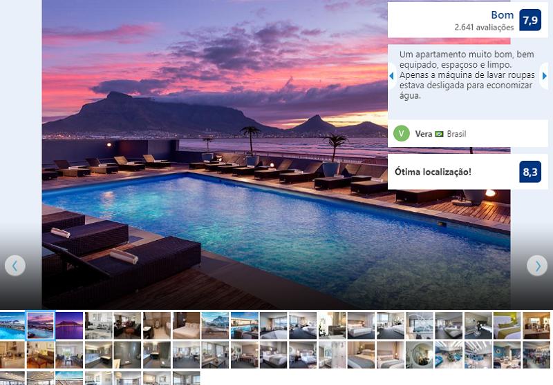 Vista do Lagoon Beach Hotel & Spa na Cidade do Cabo