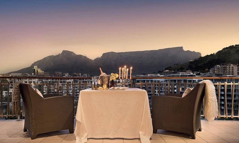 Jantar de lua de mel na Cidade do Cabo