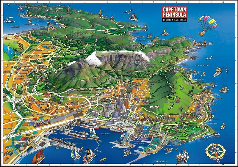 Mapa da Cidade do Cabo