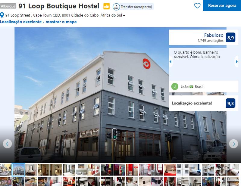 Fachada do 91 Loop Boutique Hostel na Cidade do Cabo