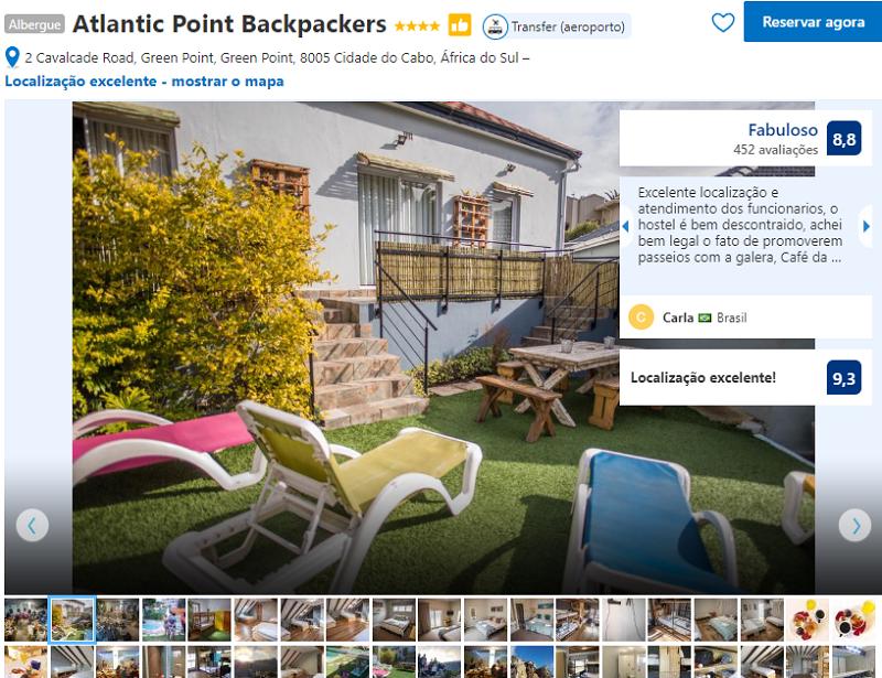 Fachada do hostel Atlantic Point Backpackers na Cidade do Cabo