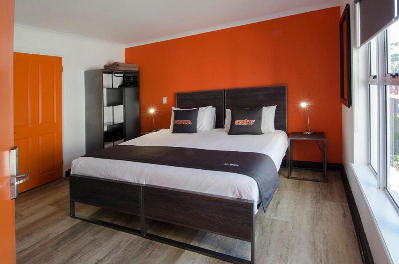 Quarto do hostel never@home Cape Town na Cidade do Cabo
