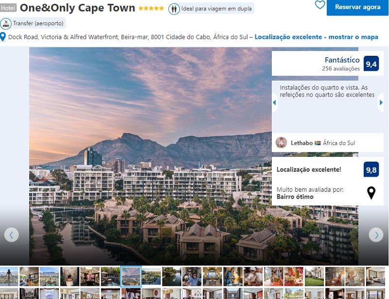 Fachada do One&Only Cape Town na Cidade do Cabo