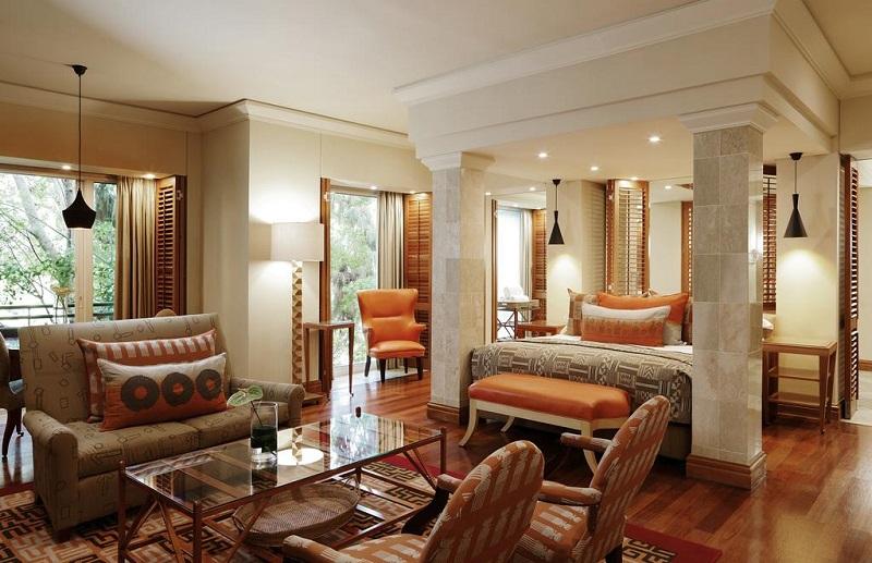 Quarto de hotel luxuoso em Joanesburgo
