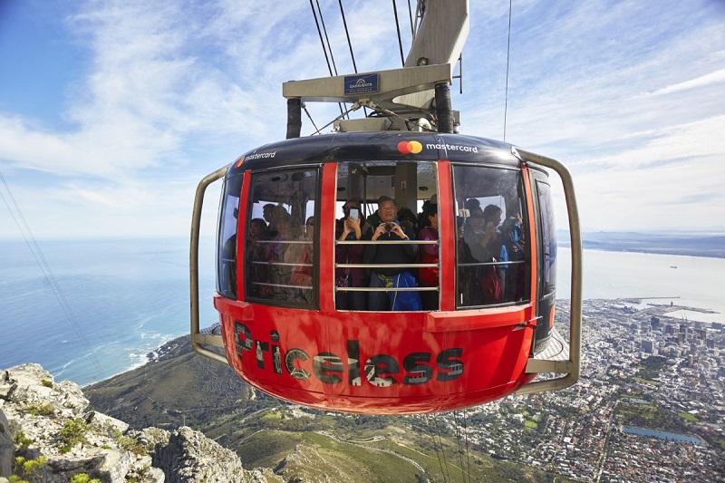 Bondinho na Table Mountain Cidade do Cabo
