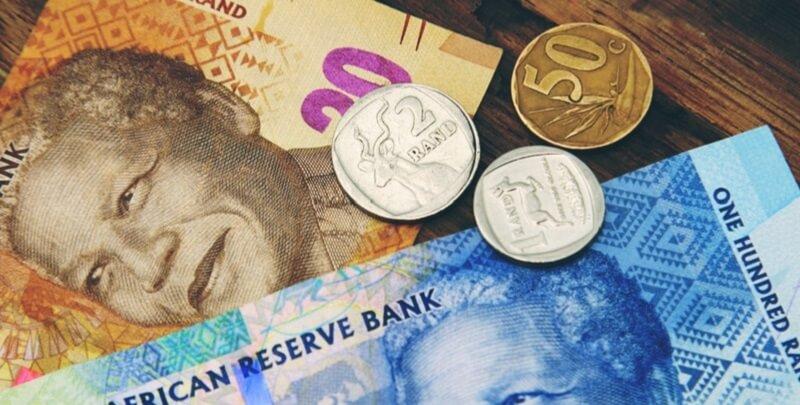 Moeda rand na Cidade do Cabo e toda a África do Sul