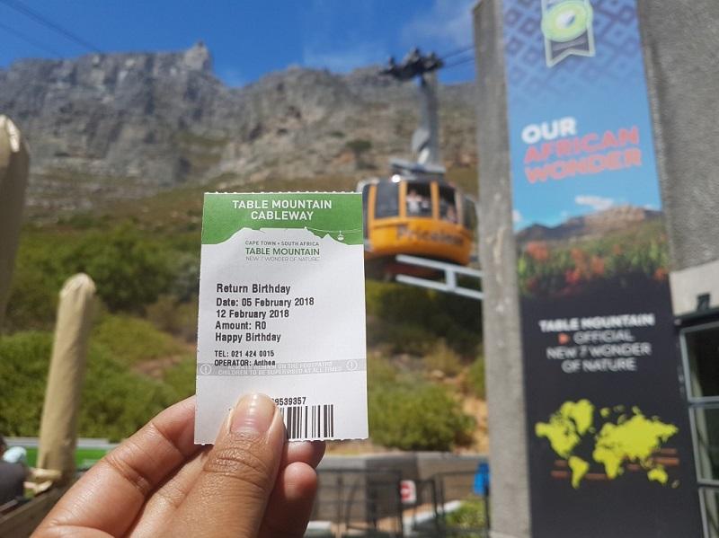Ingresso para Table Mountain na Cidade do Cabo