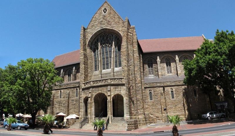 Fachada da Catedral de São Jorge na Cidade do Cabo