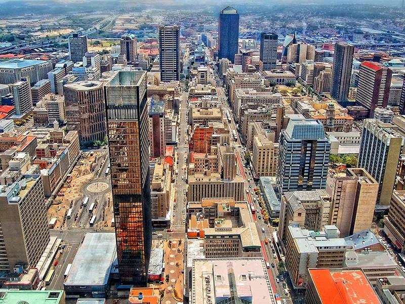 Joanesburgo na África do Sul