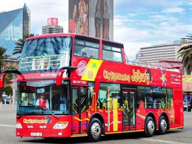 Passeio de ônibus turístico em Joanesburgo