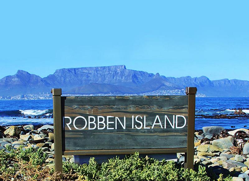 Placa da Ilha Robben na Cidade do Cabo