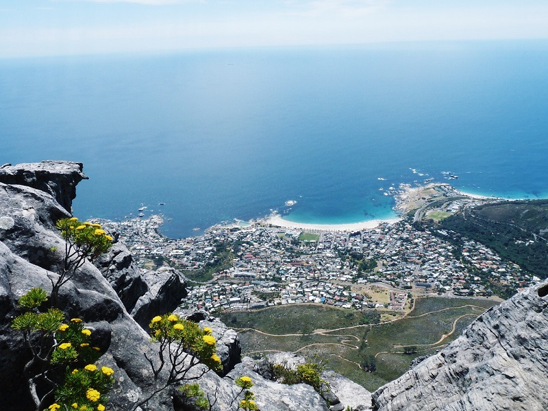 Vista de Cabo da Boa Esperança na Cidade do Cabo