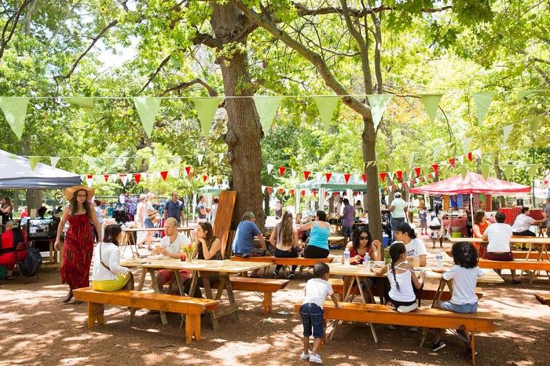 Piquenique no The Company's Garden na Cidade do Cabo