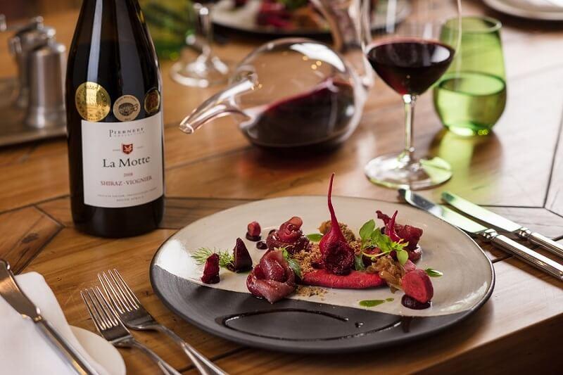 Menu degustação em vinícola de Franschhoek