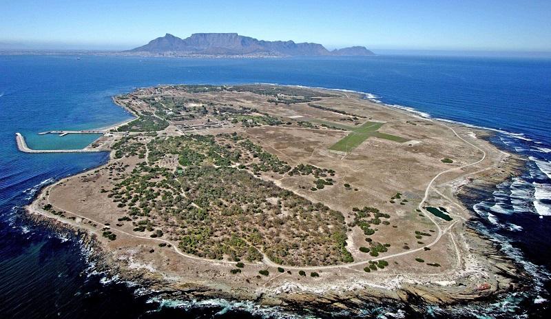 Panorâmica da Ilha Robben na Cidade do Cabo