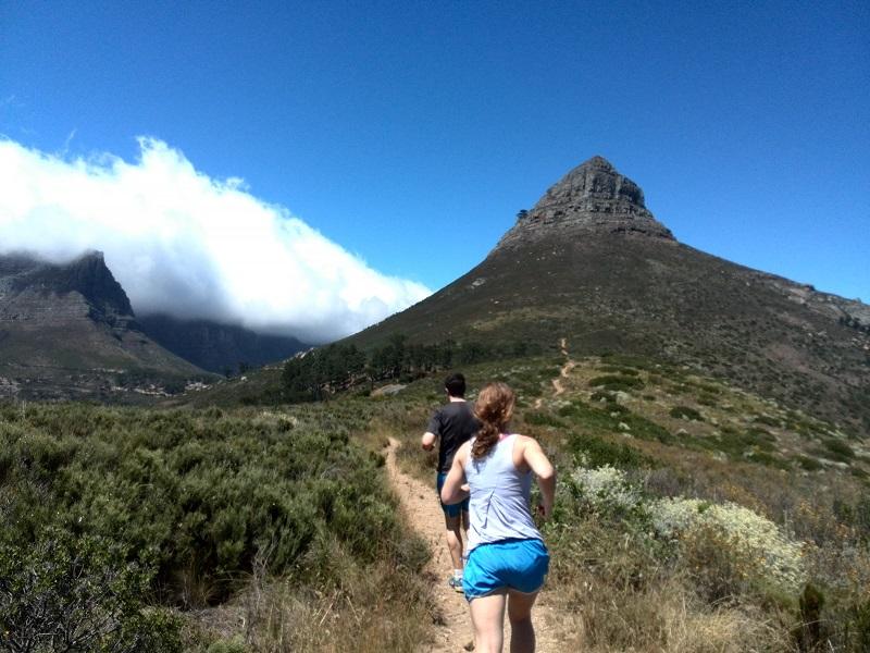 Trilha em Lion's Head na Cidade do Cabo