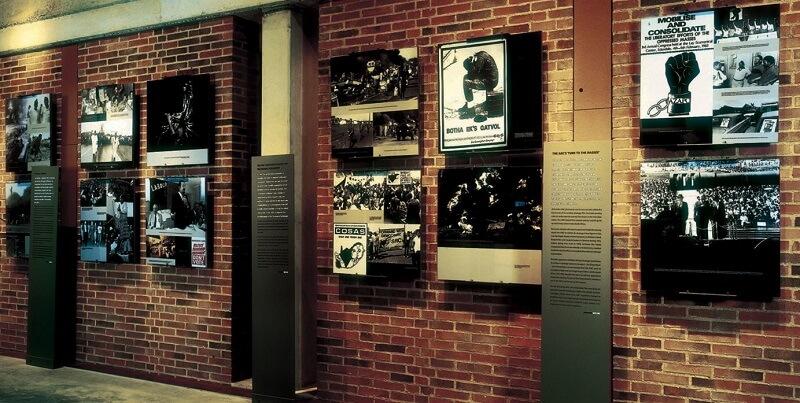 Acervo no Museu do Apartheid em Joanesburgo