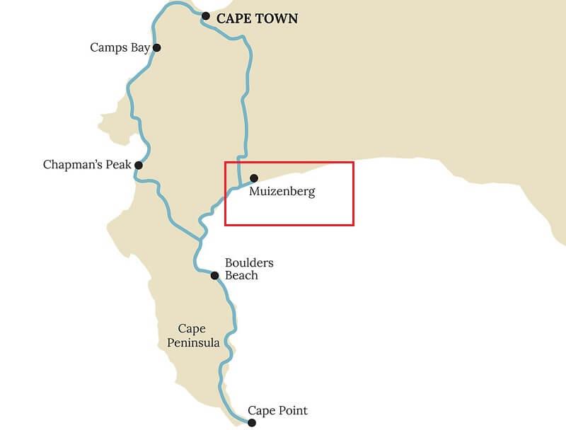 Muizenberg Beach - Mapa