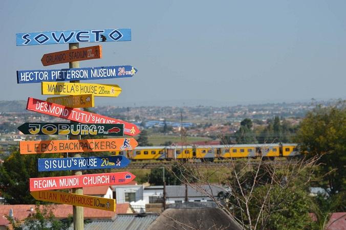 Placas indicativas em Joanesburgo - Soweto