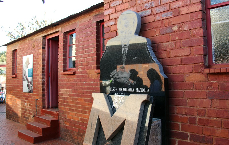 Fachada da Nelson Mandela House - Joanesburgo