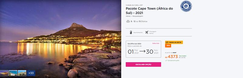 Pacote Hurb Cidade do Cabo - 2021