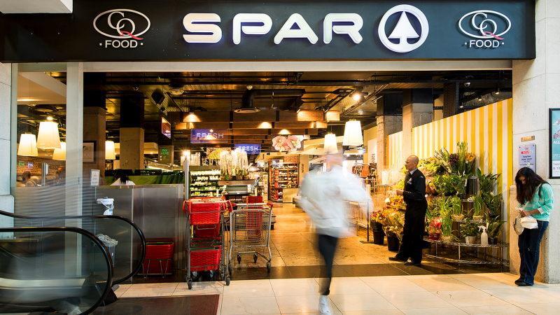 Supermercado Spar na Cidade do Cabo