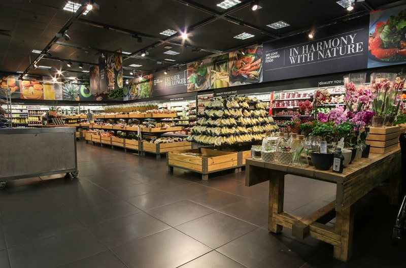 Supermercado Woolworths na Cidade do Cabo