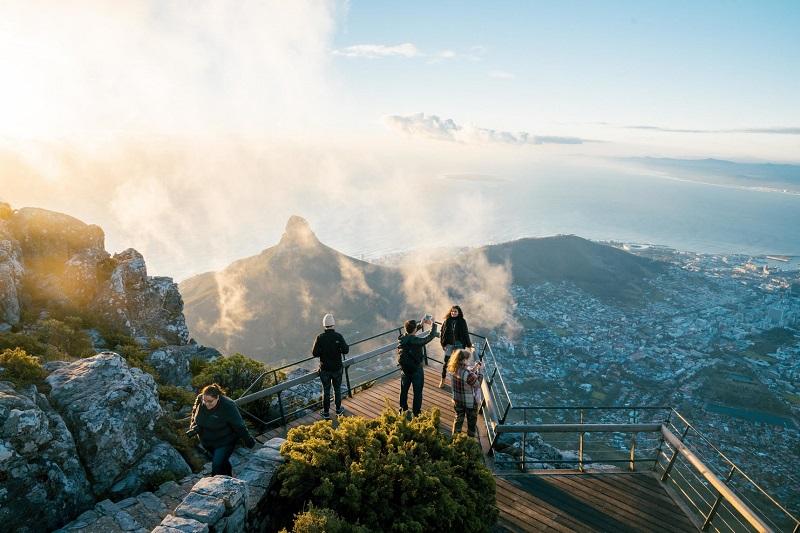 Parque Nacional Montanha da Mesa na Cidade do Cabo