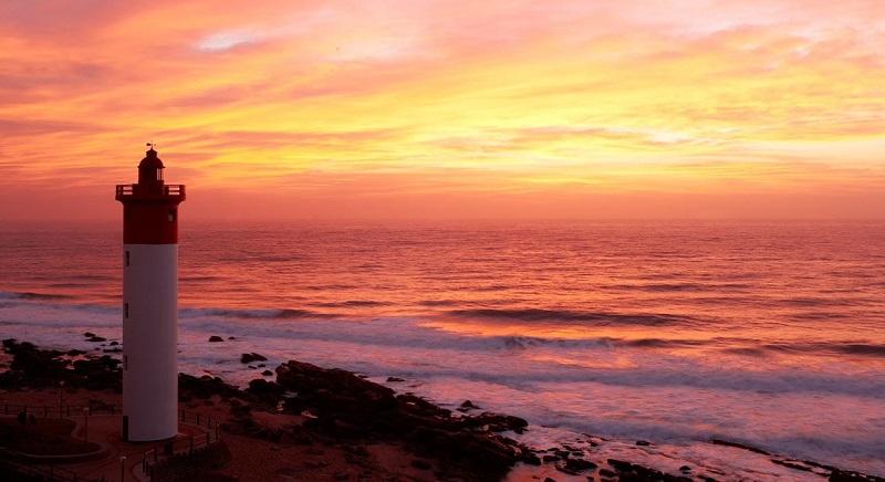 Pôr do sol em Durban - África do Sul