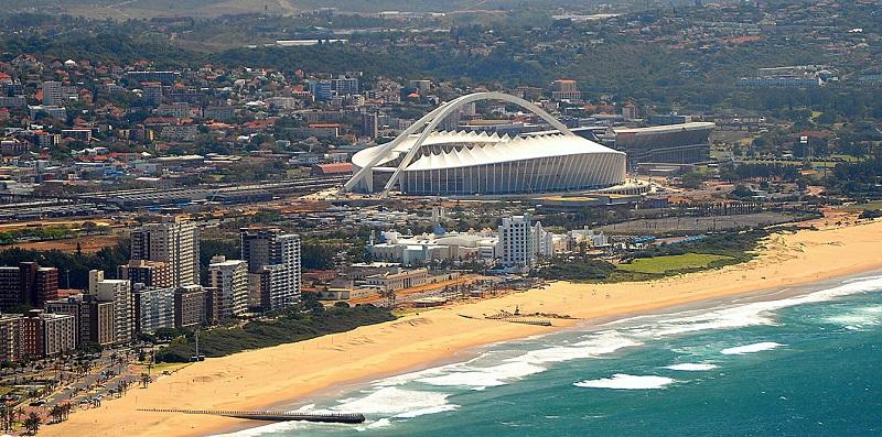 Praia em verão em Durban