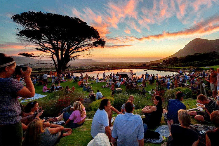 Pôr do sol na Cidade do Cabo