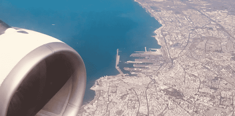 Avião sobrevoando o Marrocos