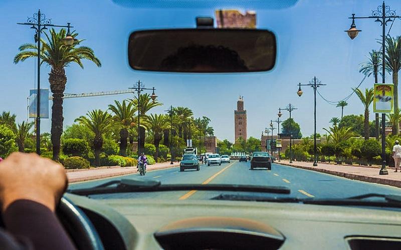 Dirigindo em Marrakesh - Marrocos